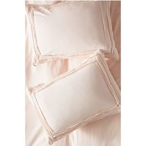 Joey Washed Percale Shams Set of 2 Anthropologie